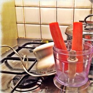 le verdure nel mixer