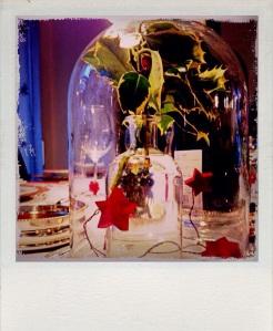 un particolare della bellissima tavola natalizia di mia sorella