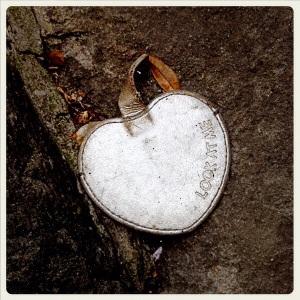 #10 Il cuore-specchio: caduto da una borsa nell'oblio, ho perso un'occasione per riflettere.