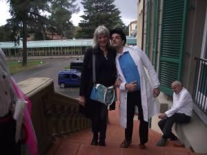 """con Caroline Simonds dell'associazione francese """"Le rire médecin"""""""
