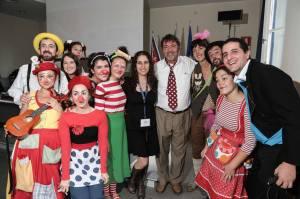 """Qui siamo con Michael Christensen, ideatore della clown terapia, colui che nel 1995 spedì a Firenze come suo """"emissario"""" il dott. Bobo, il nostro Direttore Artistico Vladimir Olshansky."""